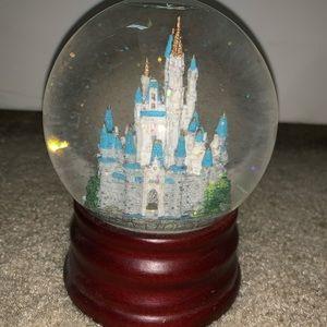 Disney castle snow globe